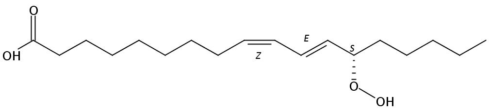 Structural formula of 13(S)-Hydroperoxy-9(Z),11(E)-octadecadienoic acid
