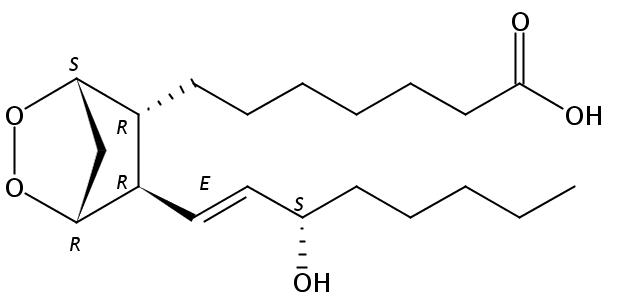 Structural formula of Prostaglandin H1