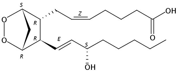 Structural formula of Prostaglandin H2