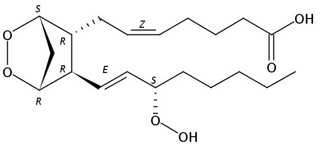Structural formula of Prostaglandin G2