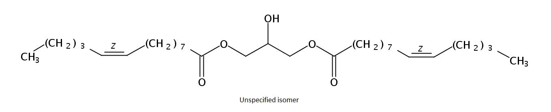 Structural formula of Dimyristolein