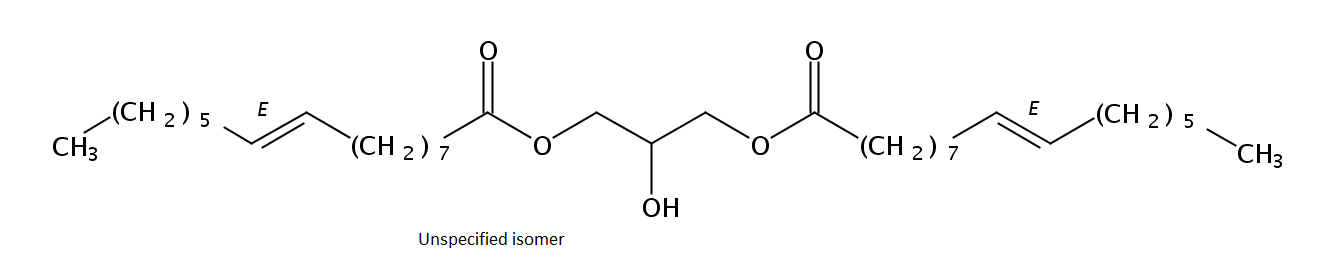 Structural formula of Dipalmitelaidin