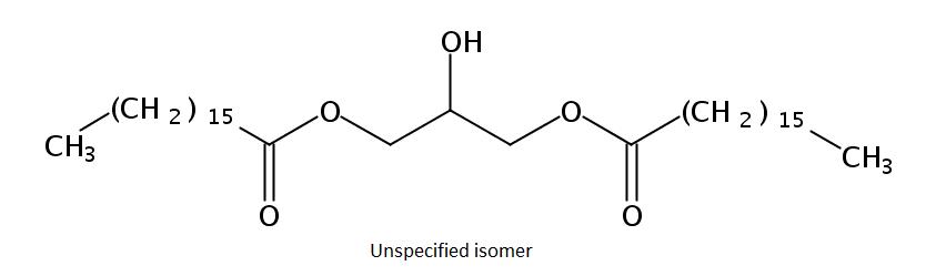 Structural formula of Diheptadecanoin