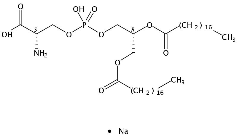 Structural formula of 1,2-Distearoyl-sn-Glycero-3-Phosphatidylserine Na salt