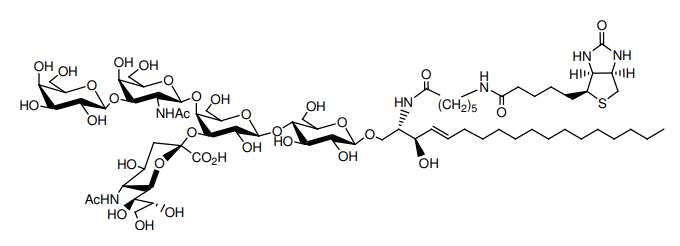 Structural formula of N-Hexanoyl-biotin-monosialoganglioside GM1