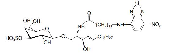 Structural formula of N-Dodecanoyl-NBD-sulfatide