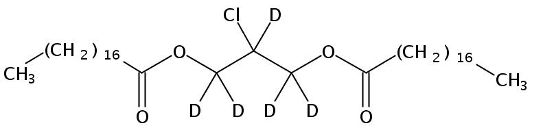 Structural formula of 1,3-Distearoyl-2-Chloropropanediol-d5