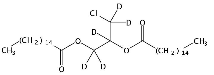 Structural formula of 1,2-Dipalmitoyl-3-Chloropropanediol-d5