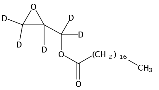 Structural formula of Glycidyl Stearate-d5