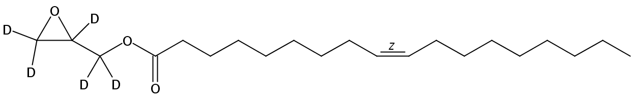 Structural formula of Glycidyl Oleate-d5
