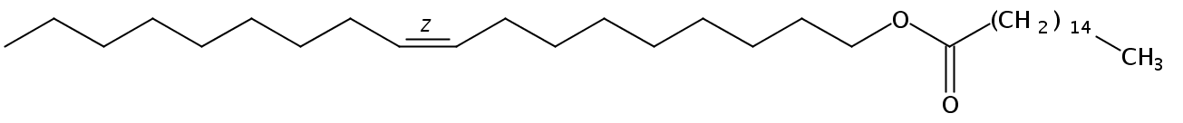 Structural formula of Oleyl Palmitate
