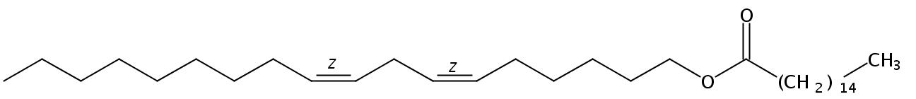 Structural formula of Linoleyl Palmitate