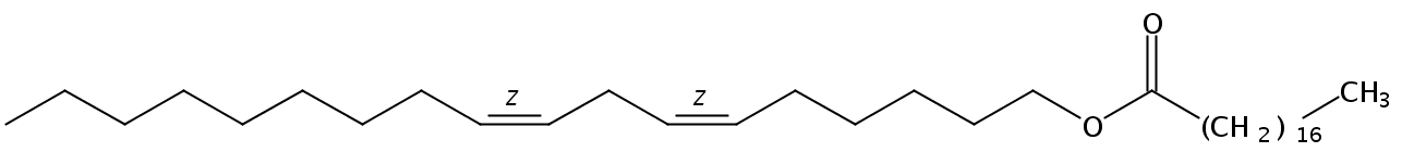 Structural formula of Linoleyl Stearate
