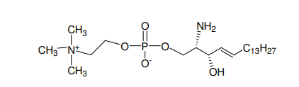 Structural formula of L-threo-Sphingosylphosphorylcholine