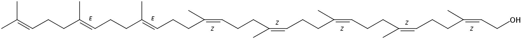 Structural formula of Octaprenol
