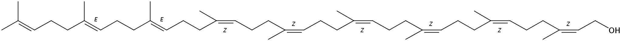 Structural formula of Nonaprenol