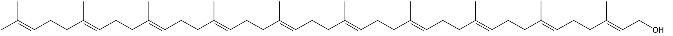 Structural formula of Decaprenol