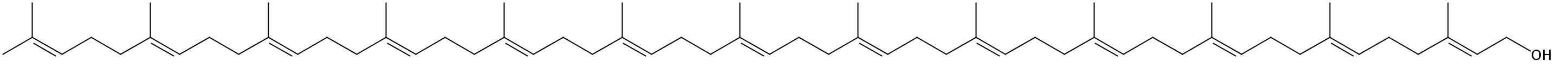 Structural formula of Tridecaprenol