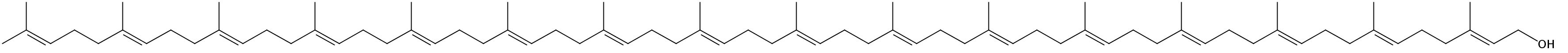 Structural formula of Hexadecaprenol