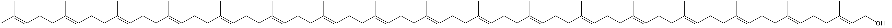 Structural formula of Heptadecaprenol