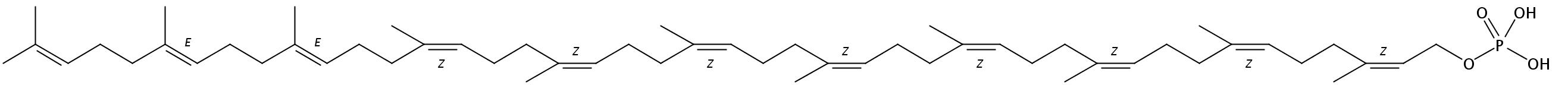Structural formula of Undecaprenyl-MPDA monophosphate (NH4+)2