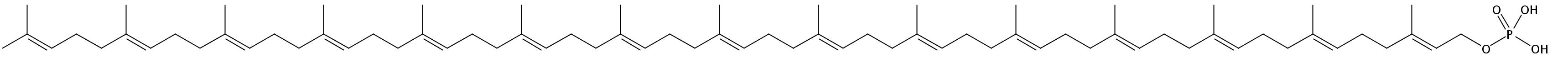 Structural formula of Pentadecaprenyl-MPDA