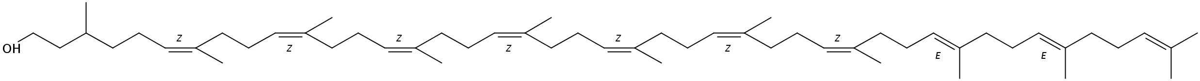 Structural formula of C55-Dolichol (Dolichol-11)