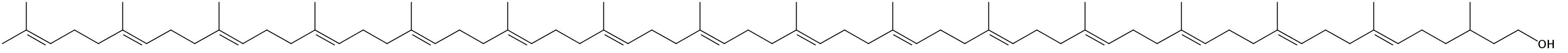 Structural formula of C80-Dolichol (Dolichol-16)