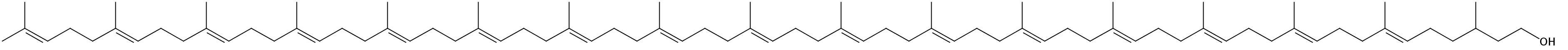 Structural formula of C85-Dolichol (Dolichol-17)