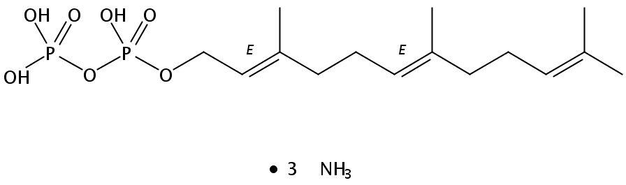 Structural formula of Farnesyl Diphosphate-TA