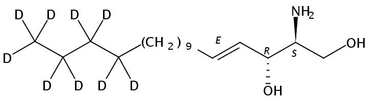Structural formula of D-erythro-Sphingosine, D9