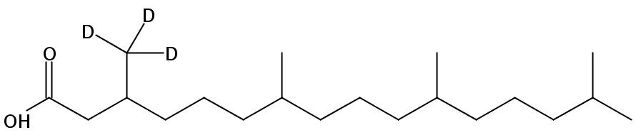 Structural formula of Phytanic acid (3-methyl-D3)